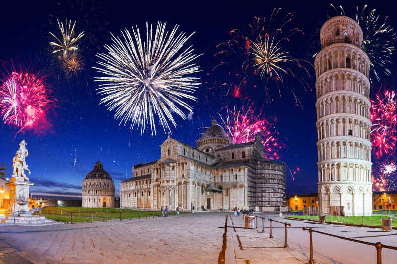 Fireworks Display in Pisa, Italy