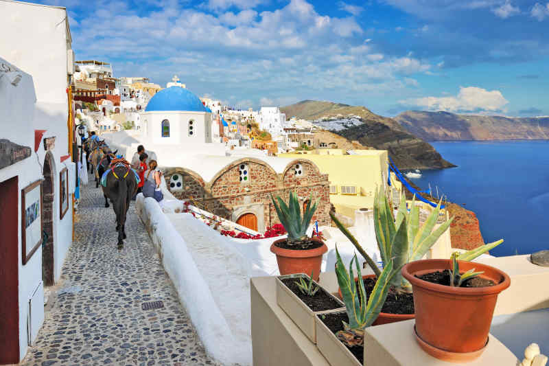 Travel to Santorini in Greece