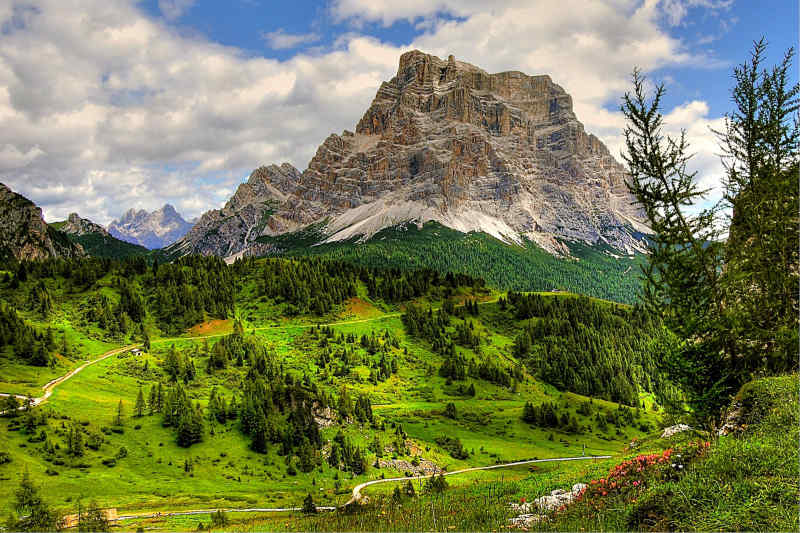 Monte Pelmo in the Dolomites, Northern Italy