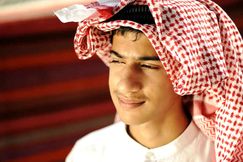 Young Bedouin man
