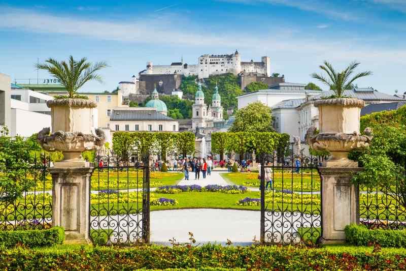 Mirabell Gardens, Fortress Hohensalzburg, Salzburg