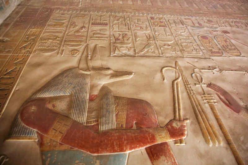 Anubis, god of embalming and mummification