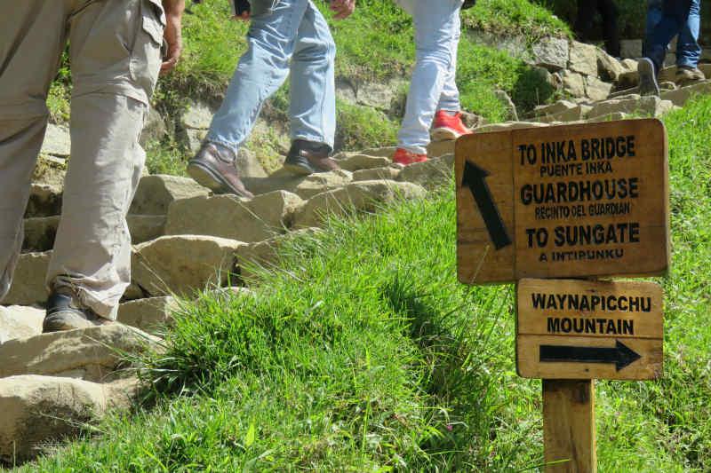 Sign post at Machu Picchu