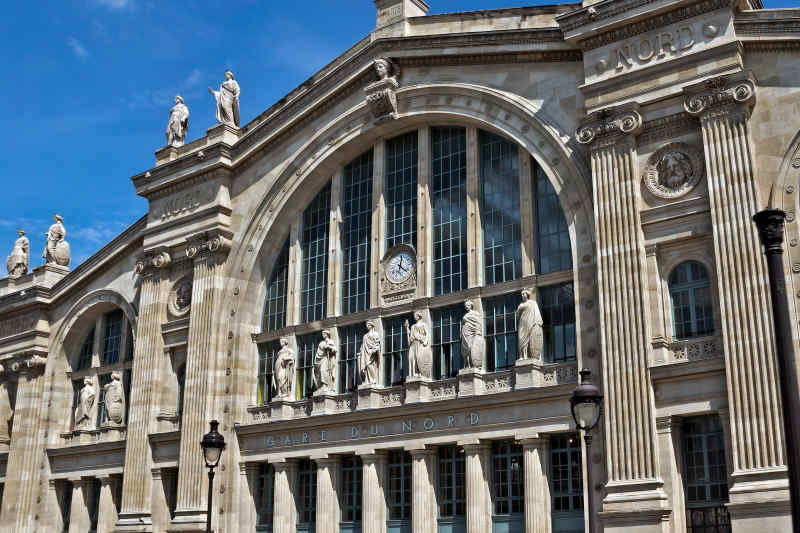 Gare du Nord Train Station in Paris, France