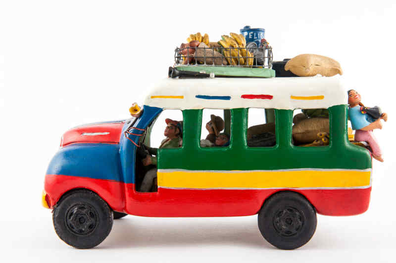 Traditional Colombian chiva (bus) souvenir