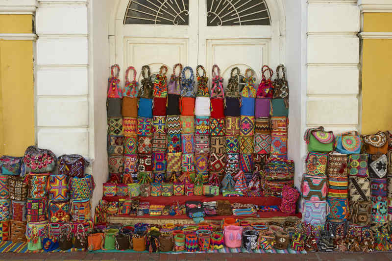Souvenirs on the street in Cartagena