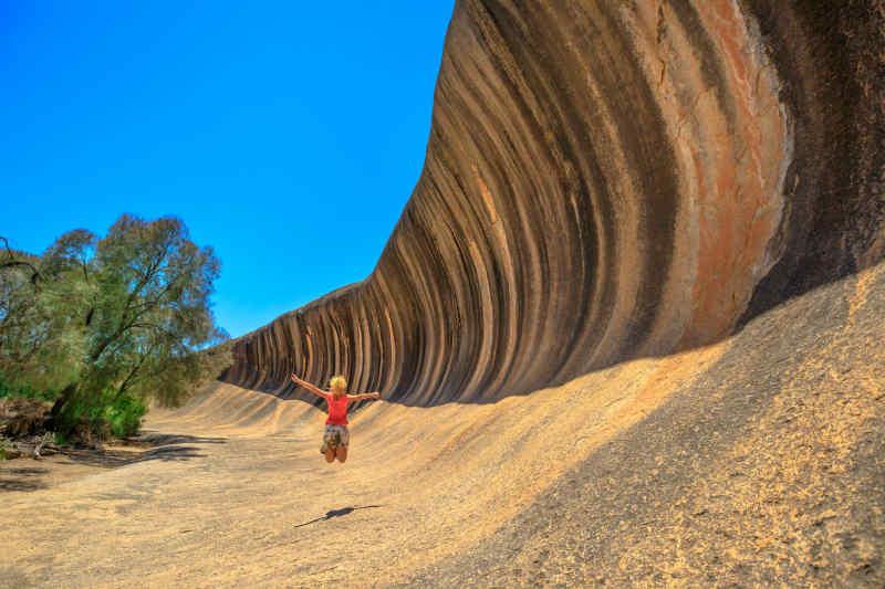 Wave Rock in Hyden, Australia