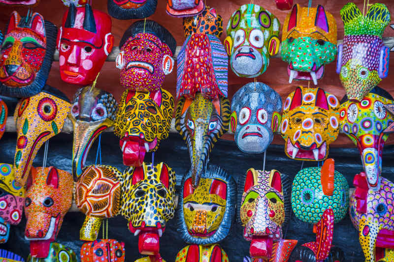 Wooden Mayan Masks from Mexico