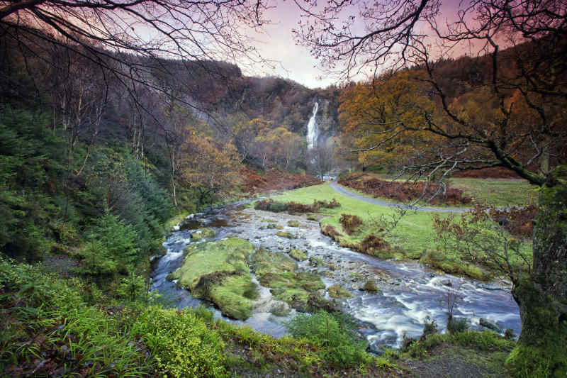 Powerscourt Waterfall in Wicklow, Ireland