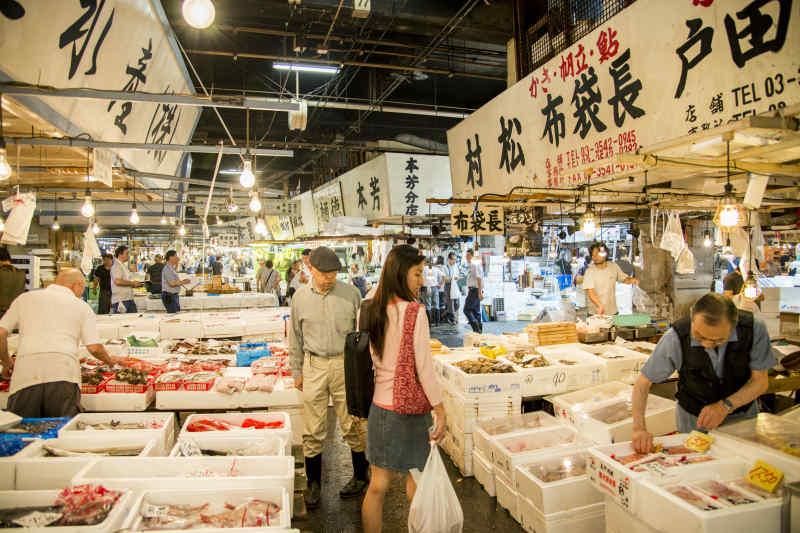 Tsukiji fish market • Tokyo, Japan
