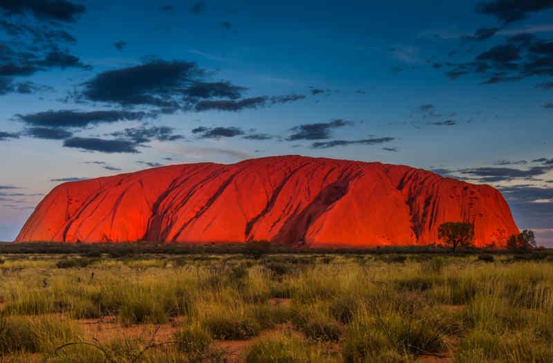 Ayers Rock in Uluru-Kata Tjuta National Park in Australia