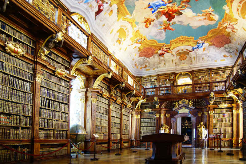 Melk Abbey Library in Melk Austria