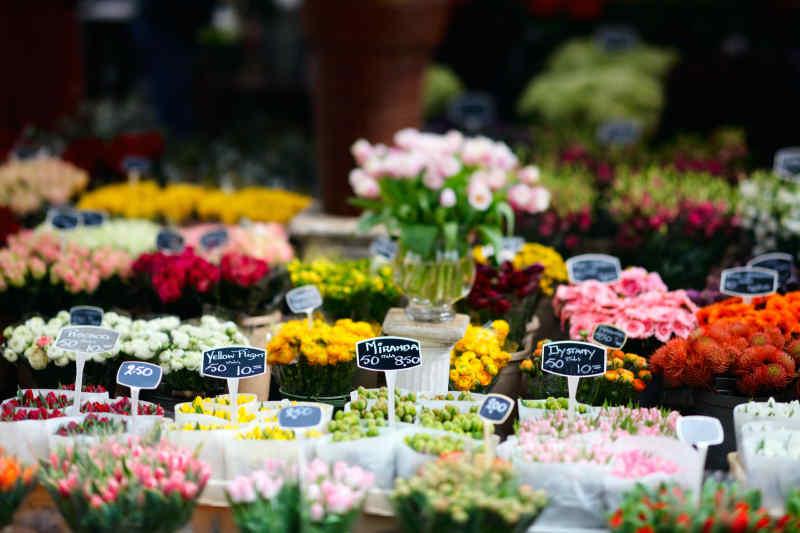 Floating flower market