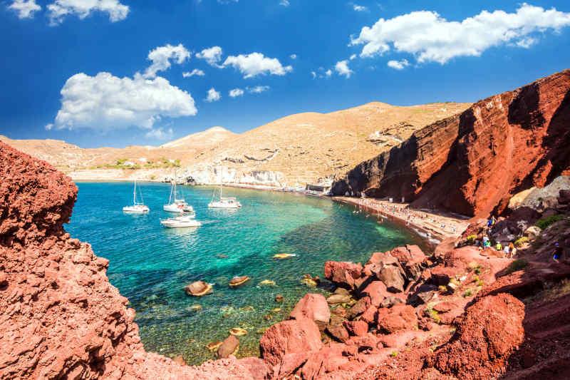 Red Beach in Santorini, Greece