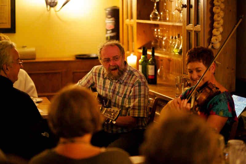 Musicians in Scottish Pub