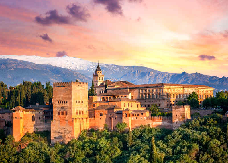 Alhambra in Andalusia, Spain