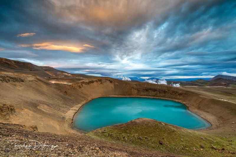 Lake Viti, Iceland
