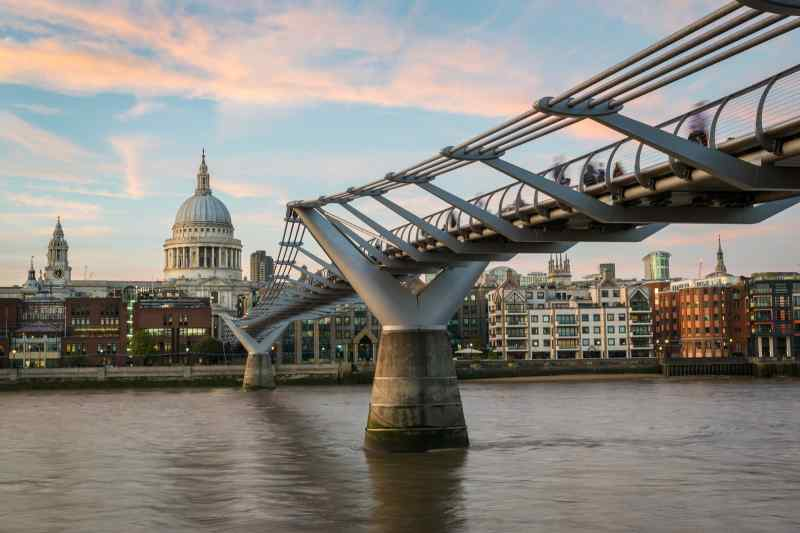 Millennium Bridge in London, England
