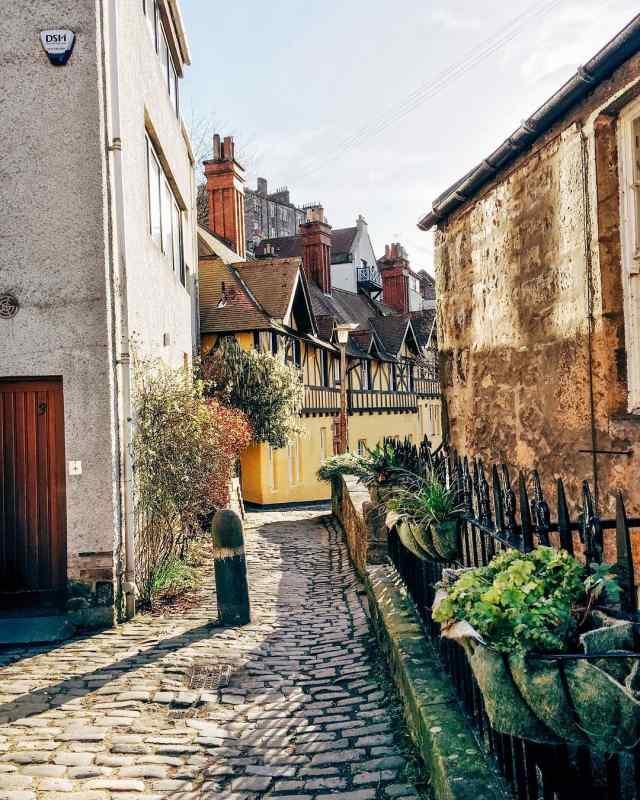 Dean Village near Edinburgh, Scotland