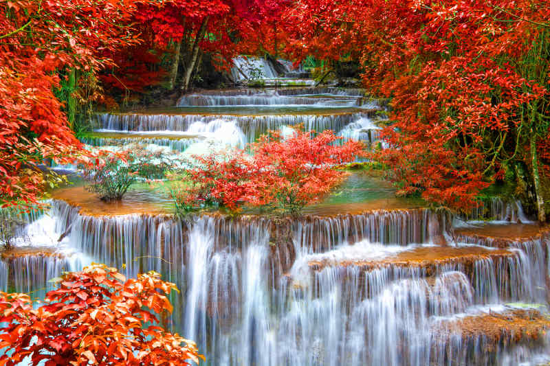 Huay Mae Kamin Waterfall • Kanchanaburi