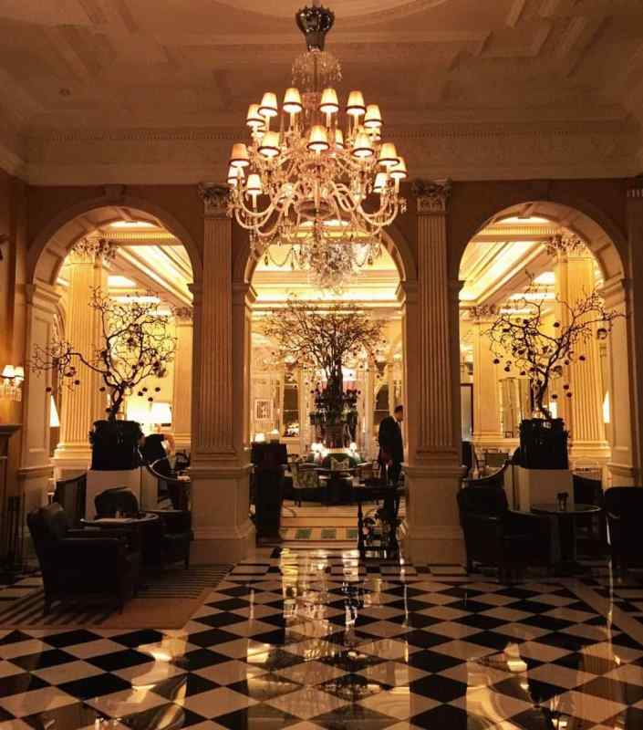 The Foyer at Claridge's Hotel in London, England