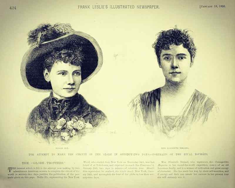 Nellie Bly and Elizabeth Bisland