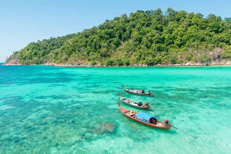Beautiful turquoise waters of Phuket, Thailand