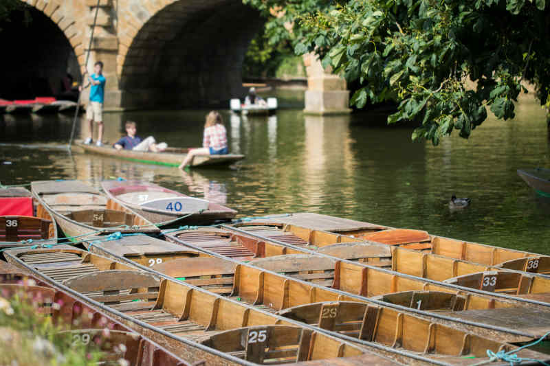 Punts on Cherwell River