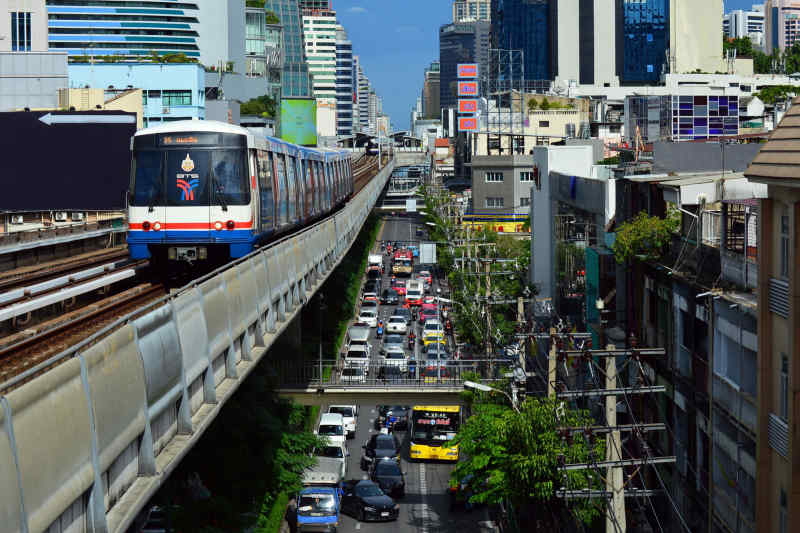 BTS Skytrain in Bangkok, Thailand