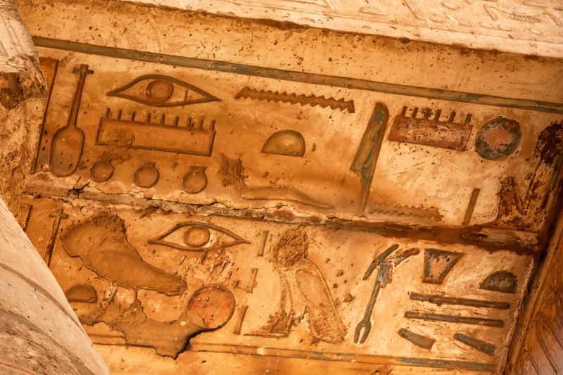 Thebes • Hieroglyphs at Karnak Temple