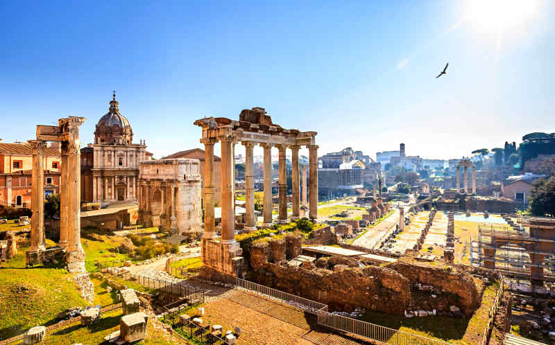 The Roman Forum in Italy
