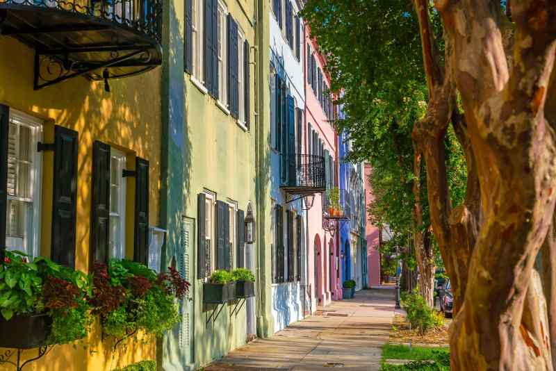 Rainbow Row, Charleston, South Carolina, USA