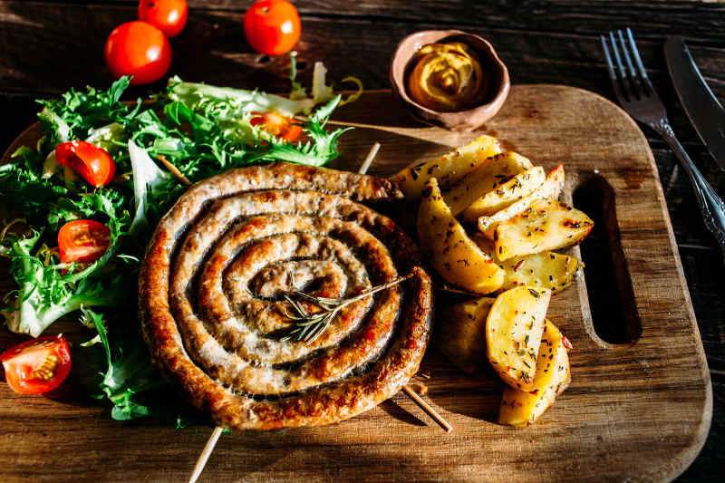 Lucanica Sausage from Basilicata, Italy