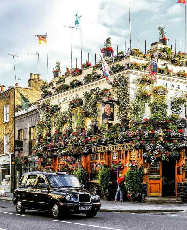 The Churchill Arms, London. Photo by Instagram user @its_so_london