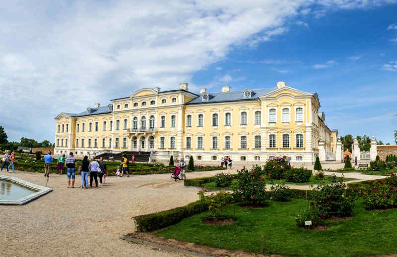 Rundale Palace in Pilsrundāle, Latvia