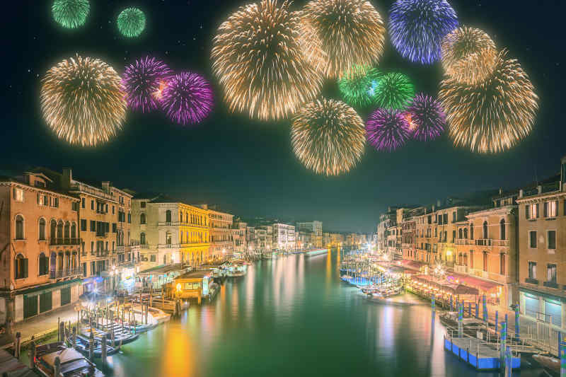 Fireworks in Venice, Italy
