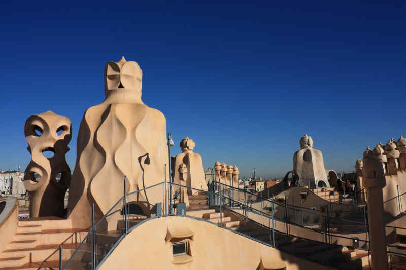 Casa Mila 'La Pedrera' in Barcelona, Spain