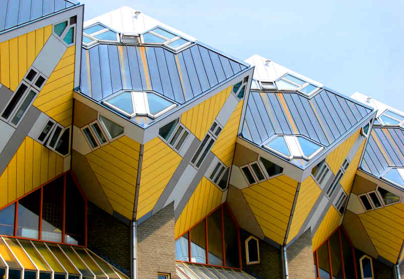 Cubic Houses in Rotterdam, Netherlands