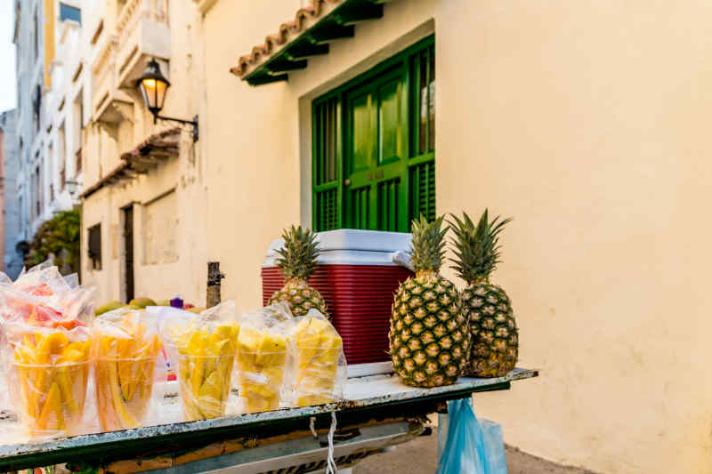 Fresh fruit for sale in Cartagena