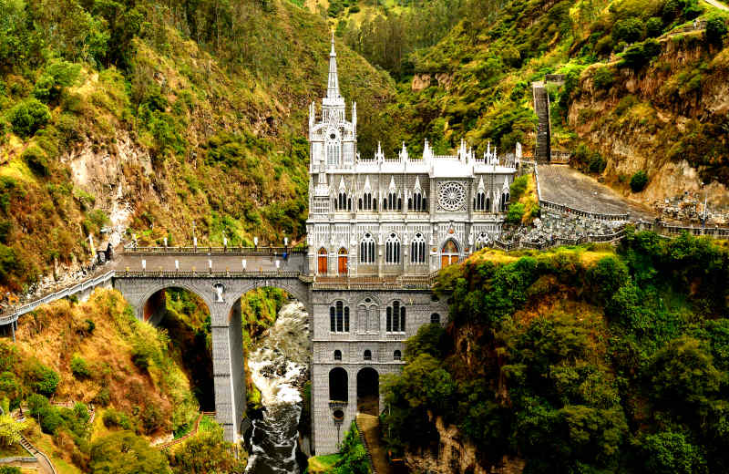 Las Lajas Sanctuary in Narino, Colombia