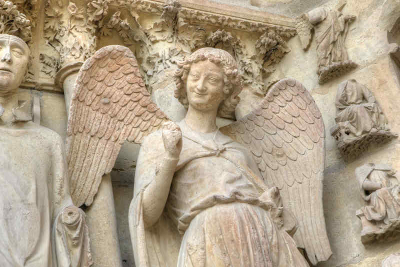 Smiling angel at Reims Cathedral