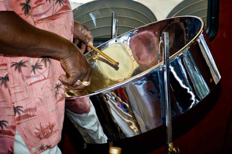 Caribbean steel drums
