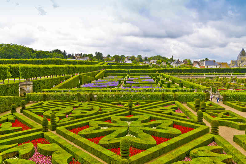 Chateau Gardens in Loire Valley, France