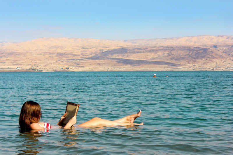 Relaxing in the Dead Sea