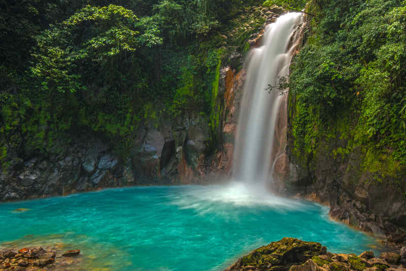 Rio Celeste Waterfall in Costa Rica