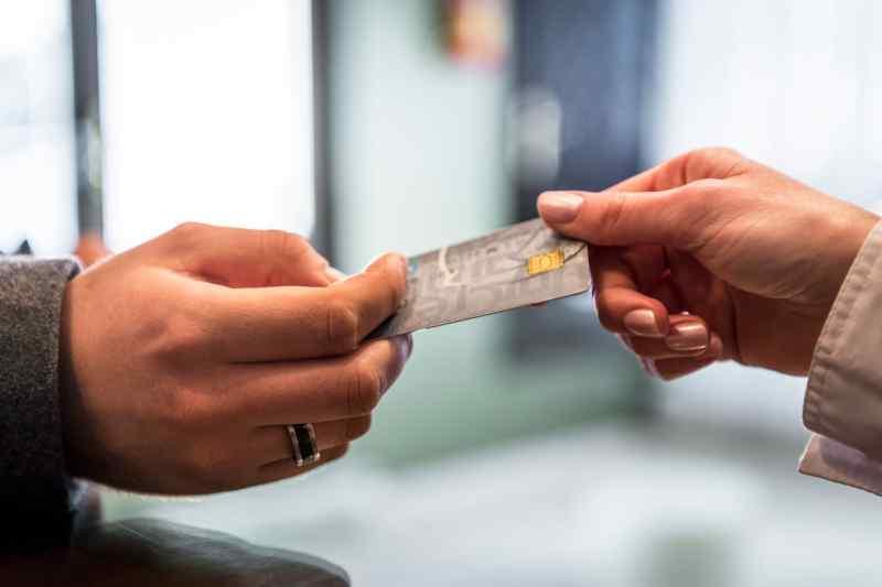 Card exchanging hands