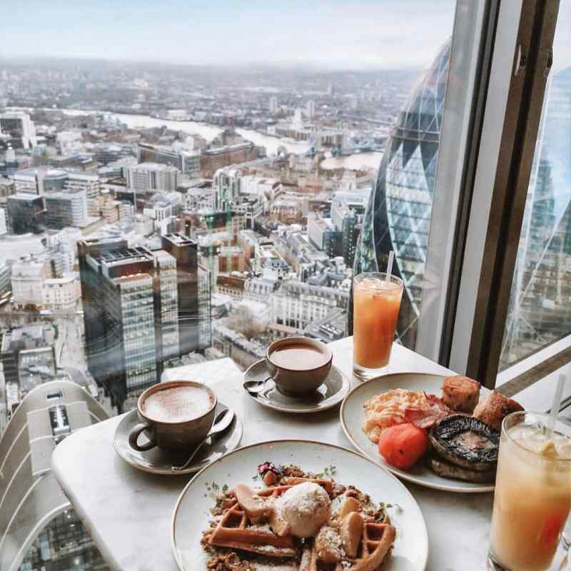 Duck and Waffle, London. Photo by Instagram user @duckandwaffle