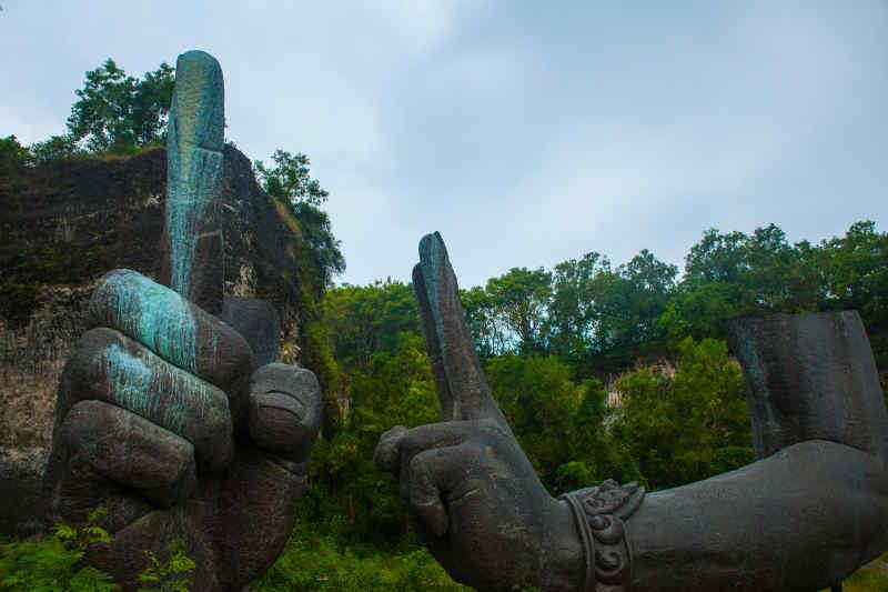 The Giant Arms of Garuda Wisnu Kencana