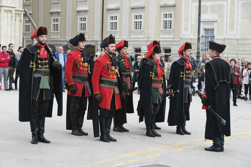 Shift of the guards in Zagreb