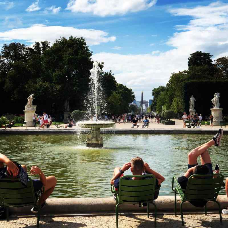 Jardín Des Tuileries in Paris